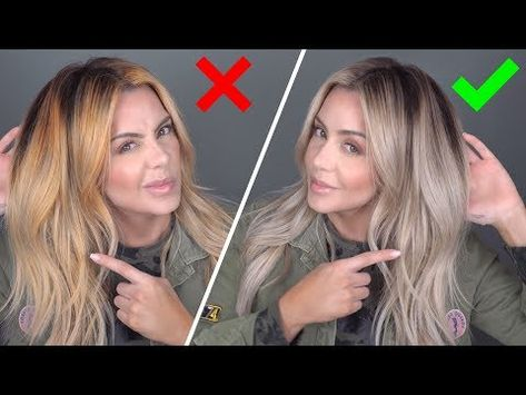 5 Tips to Prevent Brassy Hair 5 Tips to Prevent Brassy Hair Blonde Hair At Home, Yellow Blonde Hair, Blonde Hair Looks, At Home Hair Color, Dying Hair At Home, Going Blonde From Brunette, How To Dye Hair At Home, Blonde Color, Brassy Blonde
