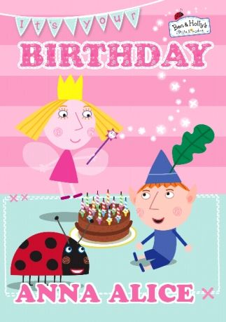 Ben Holly Birthday Card It S Your Day Funky Pigeon Ben And Holly Party Ideas Ben And Holly Birthday
