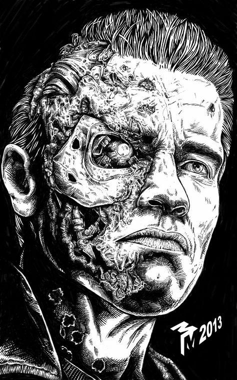 Artstation Terminator Mark Armstrong Rand Com Imagens