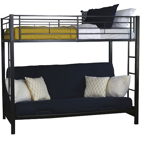Pearson Twin Bunk Bed Over Futon Bunk Beds Twin Bunk Beds Bed