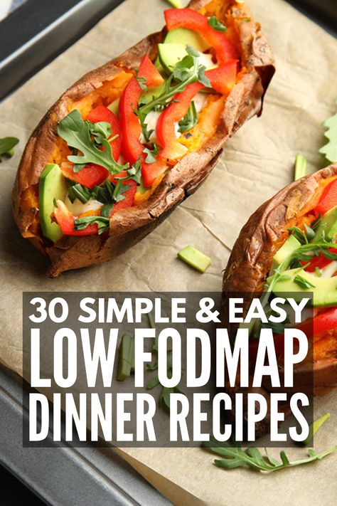 With 120 recipes to choose from, this easy Low FODMAP meal plan for beginners will help you get started and stay motivated with the Low FODMAP Diet! Fodmap Recipes, Diet Recipes, Healthy Recipes, Gluten Free Dairy Free Vegetarian Recipes, Recipes For Ibs, Ibs Recipes Dinner, Low Fodmap Foods, Healthy Vegetarian Diet, Gluten Free Meal Plan