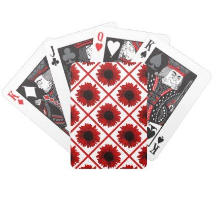 Rainbow Red Sunflower Bicycle Playing Cards Zazzle Com Red