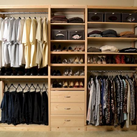 Solid Wood Closet Organizer System Simple Closet Modern Closet Organizers Wood Closet Systems