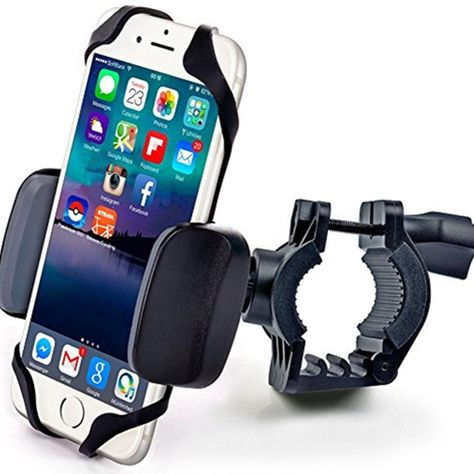 with Unbreakable Metal Handlebar Holder for Bicycle Fits iPhone IPOW Metal Bike /& Motorcycle Cell Phone Mount Samsung or Any Smartphone//GPS ATV Motorbike