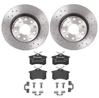 For Mercedes-Benz E350 Front Rear Black Drilled Brake Rotors+Ceramic Brake Pads