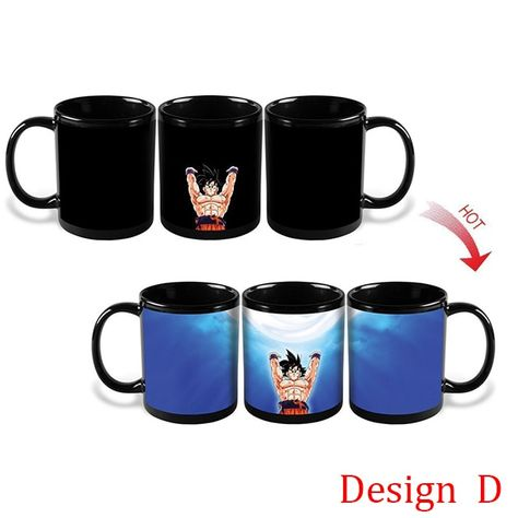 Drop shipping Changing Color Mugs Dragon Ball Z Mug SON Goku Heat Reactive Ceramic Super Saiyan Coffee Cups Taza Goku Cup - free shipping worldwide