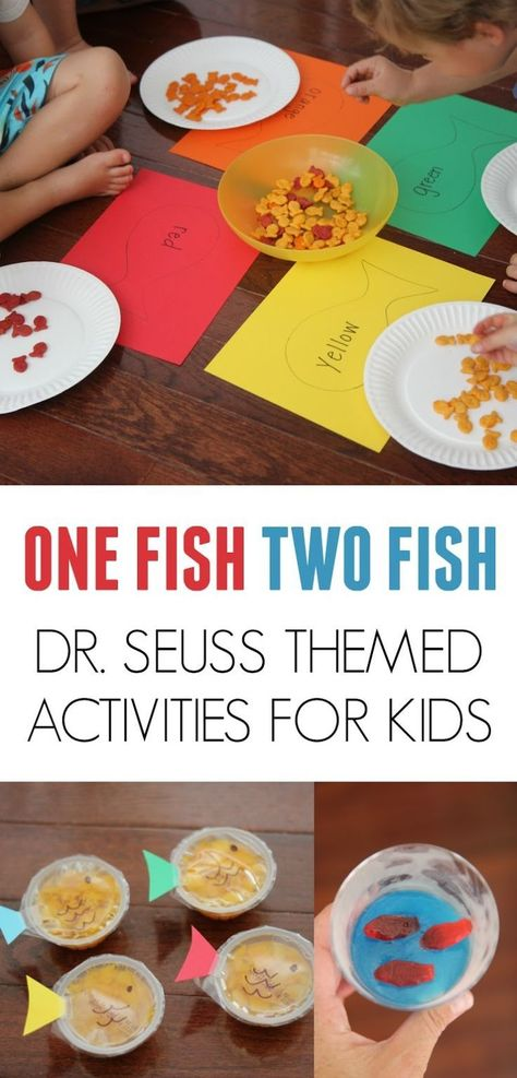 One Fish Two Fish Activities for Kids One Fish Two Fish Activities for Kids One Fish Two Fish Activities for Kids inspired by Dr. Seuss One Fish Two Fish Activities for Kids inspired by Dr.