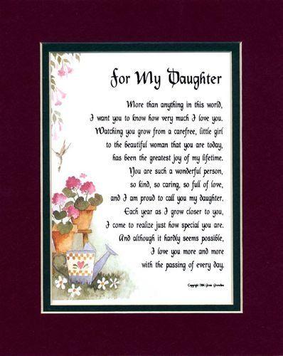 Daughter Appy Birthday Verse