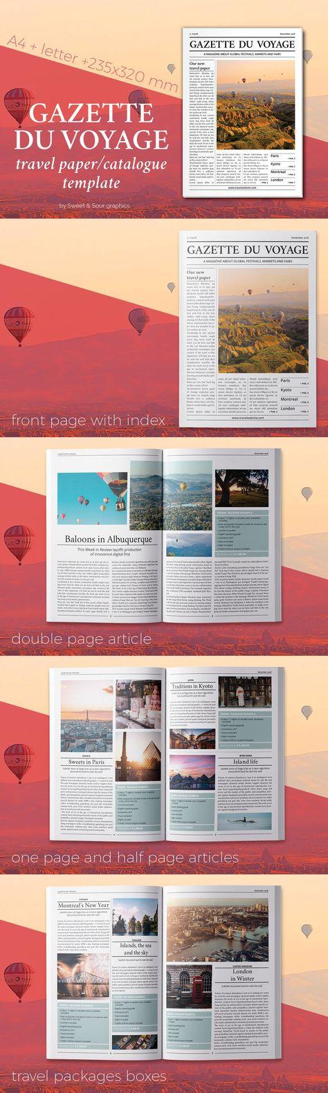 Gazette du Voyage paper/catalogue