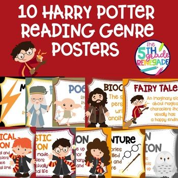 10 Harry Potter Themed Reading Genre Posters Reading Genre Posters Genre Posters Reading Genres