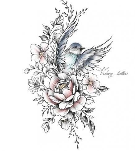 60 Trendy Mandala Bird Tattoo Drawings Jasmine Flower Tattoos Bird And Flower Tattoo Bird Design Tattoo