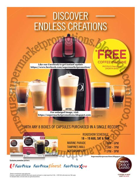 Ntuc Fairprice Fairprice Supermarket Promotion Ntuc Fairprice Nescafe Dolce Gusto Promotion 16 August 02 September 2018 F Nescafe Dolce Gusto Free Coffee