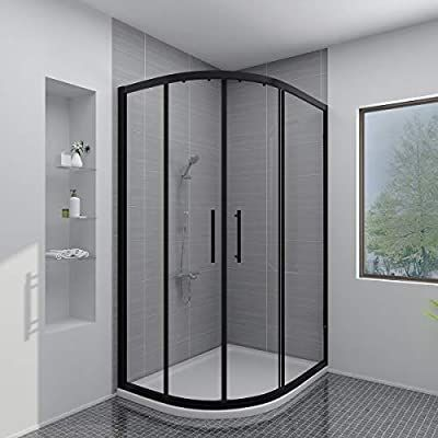 Aquariss Black 1200x900mm Offset Left Hand Quadrant Shower Enclosure With Easy Clean Glass With Show In 2020 Shower Enclosure Black Shower Quadrant Shower Enclosures