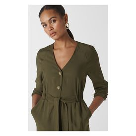 hot new products latest style of 2019 unequal in performance Khaki Lorena Tie Front Jumpsuit | WHISTLES | JUMPSUITS ...