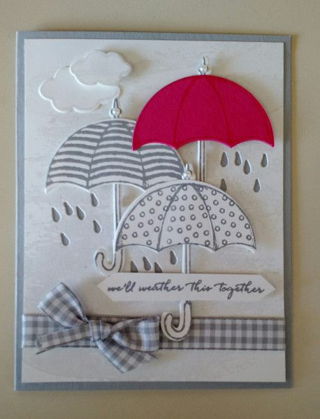 Weather Together Stampingpeace Umbrella Cards Cards Handmade Greeting Cards Handmade