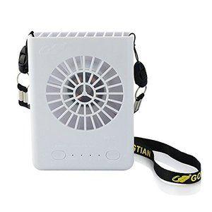 Gongtian Mini扇風機 Usb Amp 充電式バッテリー両対応扇風機 3段階風量切り替え 携帯用扇風機 首に掛ける ハンズフリー ホワイ 扇風機 Usb 扇風機 風量