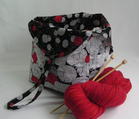 knitting project bag - crochet amigurumi WIP - Tulip Bag ...