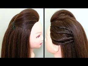 Amazing Side Puff Hairstyle Occasion School Girls Hairstyle Youtube Hair Puff Hair Styles Hairstyle
