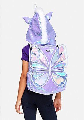 Butterfly Unicorn Hooded Backpack Justice Backpacks Girl Backpacks Barbie Doll Set