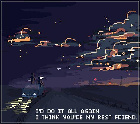 vaporwave space the kids arent alright // fob Pixel Art, My Best Friend, Best Friends, Alluka Zoldyck, 8bit Art, The Villain, Fall Out Boy, 8 Bit, Vaporwave