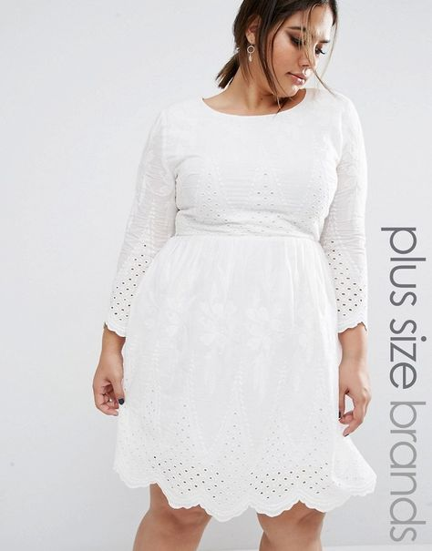 177d104143b2 Boohoo Plus Embroidered Cotton Dress | Plus Size Style | Dresses ...