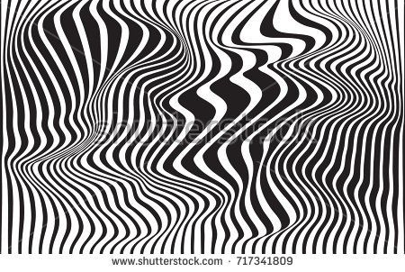 Optical Art Abstract Background Wave Design Black And White Wave