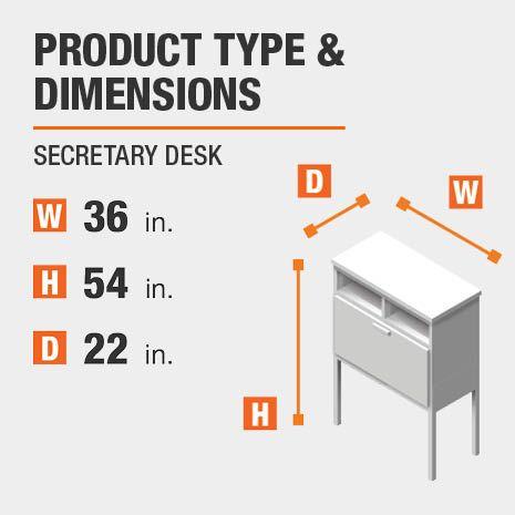 Secretary Desks, Secretary Desk Dimensions