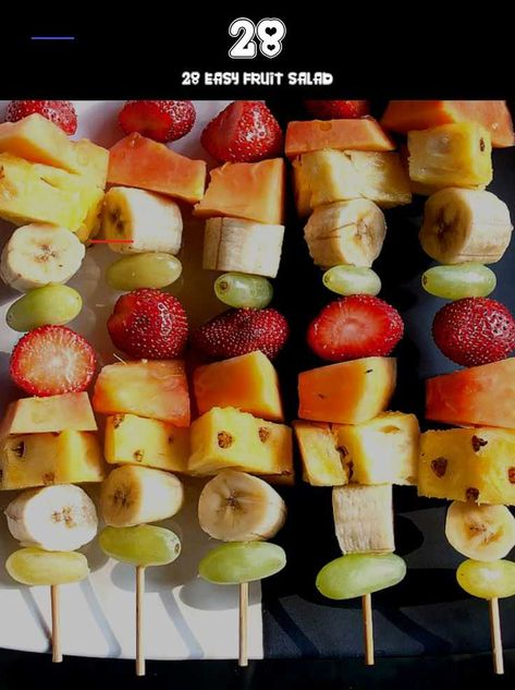 28 EASY FRUIT SALAD Fruit skewers with coconut yogurt dip - #banana #cooking #delicious #dessert #food #foodgasm #foodporn #fruit #fruits #healthy #kabobs #mango #photography #pineapple #recipes #skewers #snack #strawberry #submission #sweet #tooth #makeup #parenting<br>
