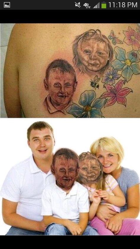 Horrible tats... I feel sorry for the kids.
