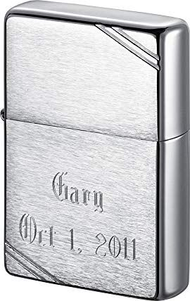 Personalized Zippo Vintage Brushed Chrome Lighter With Free Engraving Review Personalized Zippo Vintage Brush Zippo