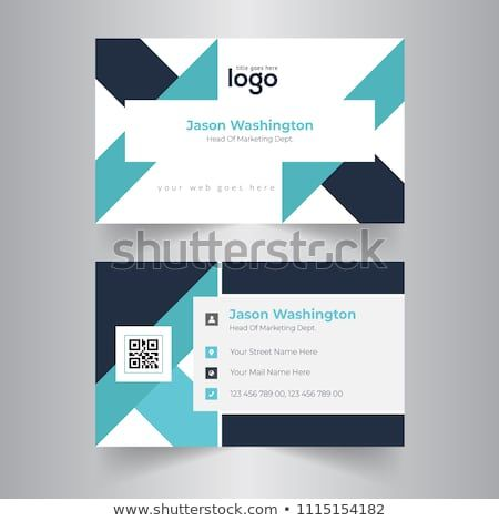 Creative And Clean Business Card Template Flat Design Vector