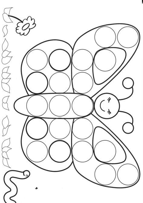 Gommettes - PlayMaïs - Punaises - Coloriage