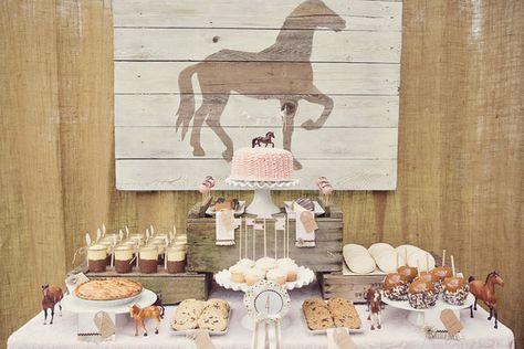 Great vintage rustic dessert table
