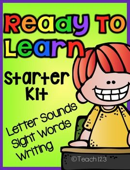 Ready to Learn: Letter Sounds, Sight Words, and Writing: This is the perfect way to get parents involved with helping their child study letter sounds, sight words, and writing skills. The bundle includes: Popcorn Letter Sounds Program, Bubble Gum Sight Word Program, and Home Journal Writing Program. paid