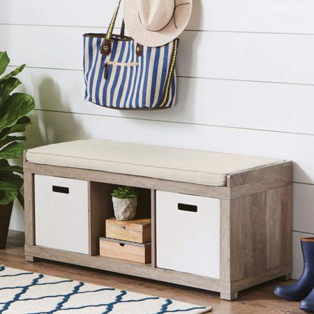 9723a6ce2bf003534081357a71f6f99b - Better Homes And Gardens 3 Cube Organizer Bench Weathered