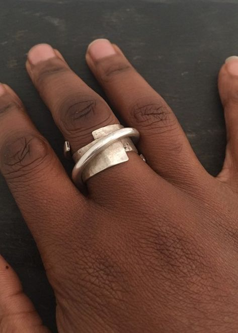 Sterling Silver Ring, Unusual Ring, Chunky Ring, OOAK Ring