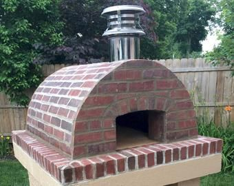 Want A Real Brick Oven In Your Backyard Build A Diy Pizza Etsy In 2020 Diy Pizza Oven Pizza Oven Plans Pizza Oven