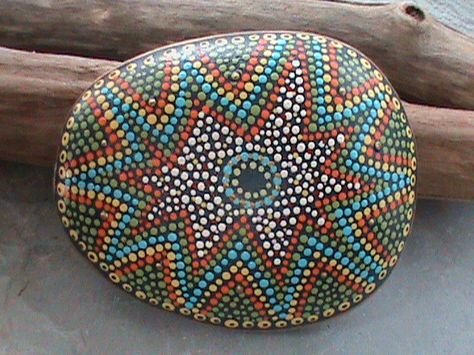 Beach Stone Art by Christine Salva