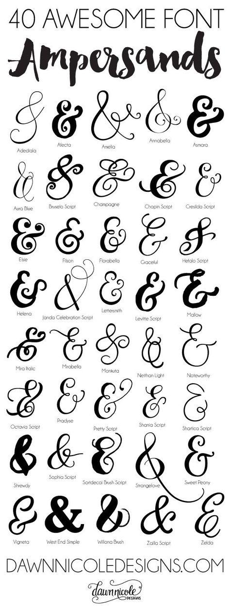 40 Awesome Font Ampersands   dawnnicoledesigns.com