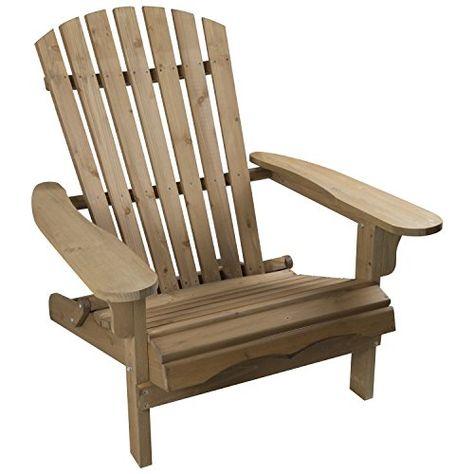 Woodside Chaise Adirondack En Bois Pour Exterieur Decoration