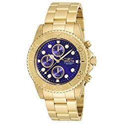 Consigue Tu Reloj Invicta Dorado Al Mejor Precio Del Mercado Calidad Y Garantía De Amazon No Te Pre Watches For Men Luxury Watches For Men Gold Tone Bracelet