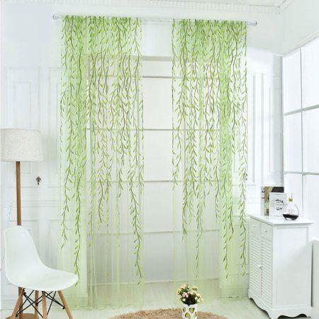 200x100cm Balcony Window Curtain Living Room Decorative Voile Drape Panel Sheer