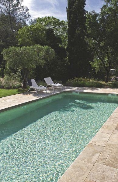 Piscine : 8 modèles pour profiter de la terrasse en été   Terrasse piscine, Carrelage piscine et ...