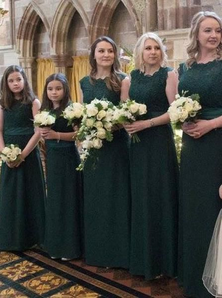 Dark Green Bridesmaid Dress Lace Bridesmaid Dress Full Length Bridesmaid Dress Bd00077 Green Bridesmaid Dresses Dark Green Bridesmaid Dress Green Bridesmaid Dresses Lace