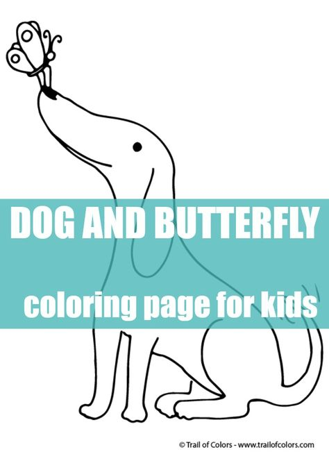 Happy Dog Coloring Page for Kids | Pinterest | Happy dogs ...