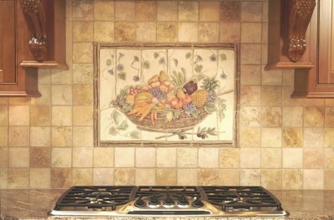 14 Stunning Ceramic Tile Murals For Kitchen Backsplash Photo