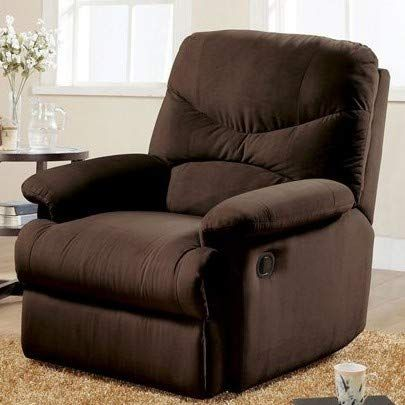 Recliners For Small Spaces Bedroom Chairs For Adults Chocolate Microfiber Motion Glider Mechanism Small Space Bedroom Bedroom Chair White Leather Dining Chairs