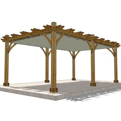 Outdoor Living Today 12 X 20 6 Post Breeze Pergola With Retractable Canopy Default Title Outdoor Living Yard Outlet Pergola Cedar Pergola Pergola Patio