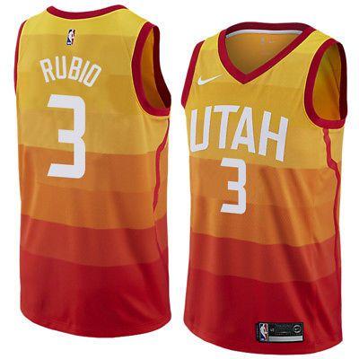 f798cc6be Ricky Rubio-Utah-Jazz-player-3 City Rainbow-Swingman jersey--Free shiping