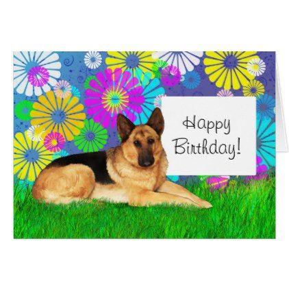 German Shepherd Dog Birthday Day Card Zazzle Com Dog Birthday German Shepherd Dogs Shepherd Dog